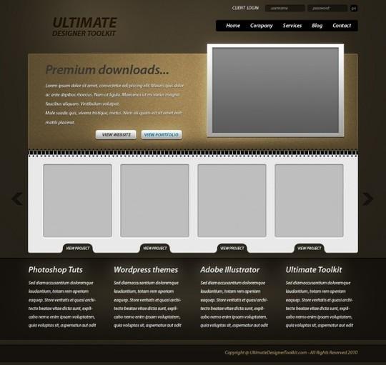 Best Of 2011: 45 Photoshop Web Design Layout Tutorials 36