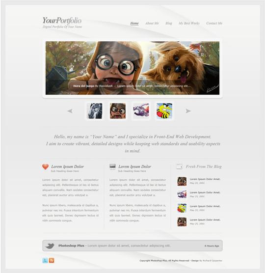 Best Of 2011: 45 Photoshop Web Design Layout Tutorials 38
