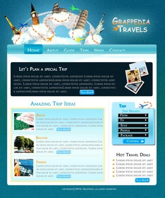 Best Of 2011: 45 Photoshop Web Design Layout Tutorials 40