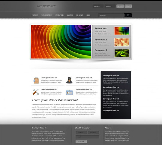 Best Of 2011: 45 Photoshop Web Design Layout Tutorials 5