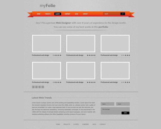 Best Of 2011: 45 Photoshop Web Design Layout Tutorials 12