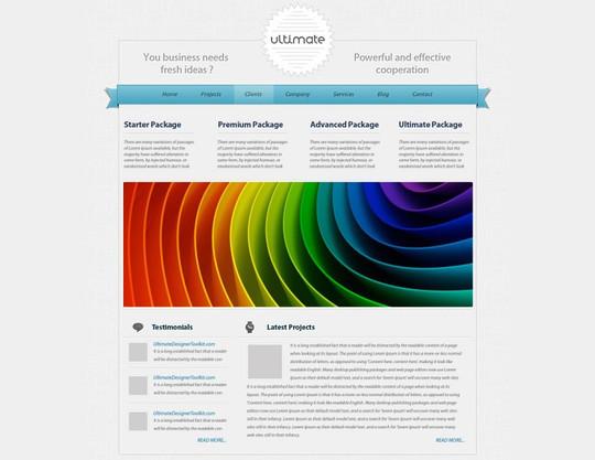 Best Of 2011: 45 Photoshop Web Design Layout Tutorials 14