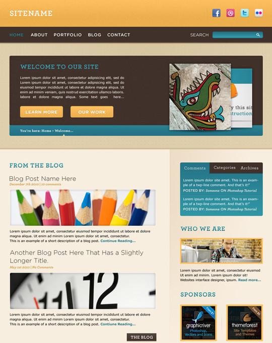 Best Of 2011: 45 Photoshop Web Design Layout Tutorials 7