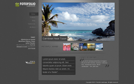 Best Of 2011: A Beautiful Collection Of 50 Free WordPress Themes 7