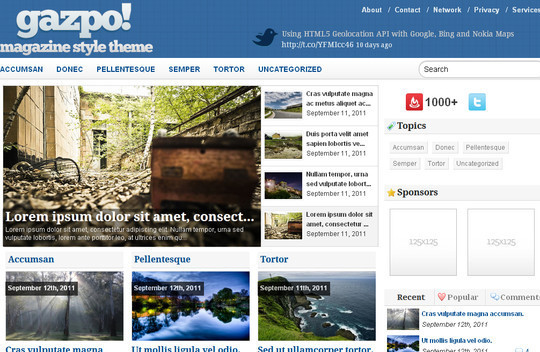 Best Of 2011: A Beautiful Collection Of 50 Free WordPress Themes 2