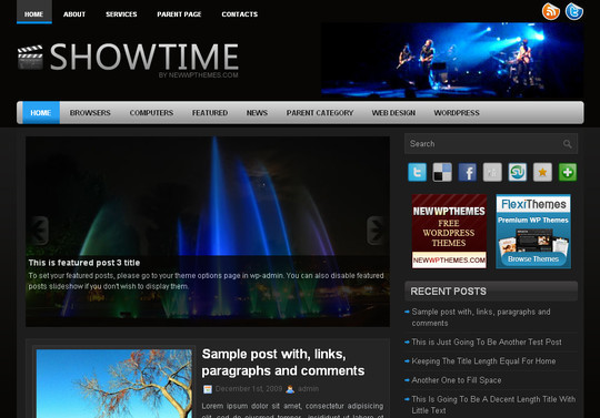 Best Of 2011: A Beautiful Collection Of 50 Free WordPress Themes 25