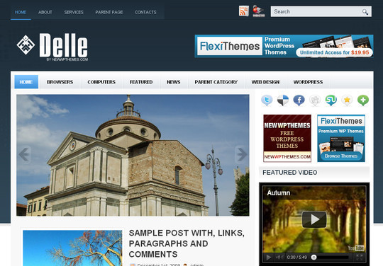 Best Of 2011: A Beautiful Collection Of 50 Free WordPress Themes 16