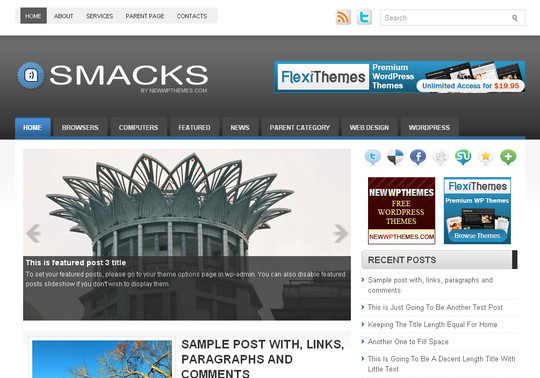 Best Of 2011: A Beautiful Collection Of 50 Free WordPress Themes 17