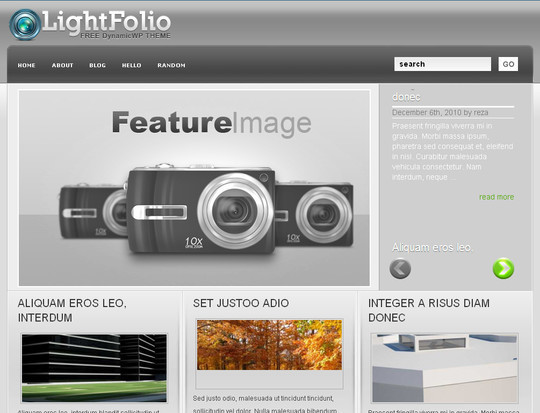 Best Of 2011: A Beautiful Collection Of 50 Free WordPress Themes 11