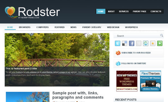 Best Of 2011: A Beautiful Collection Of 50 Free WordPress Themes 10