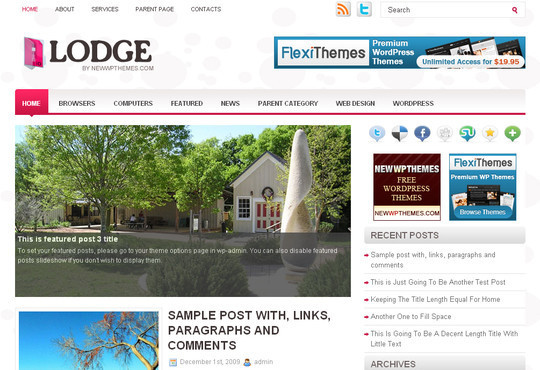 Best Of 2011: A Beautiful Collection Of 50 Free WordPress Themes 26