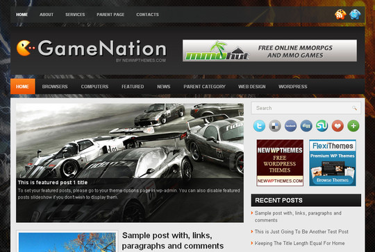 Best Of 2011: A Beautiful Collection Of 50 Free WordPress Themes 27