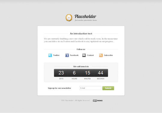 Best Of 2011: A Beautiful Collection Of 50 Free WordPress Themes 29