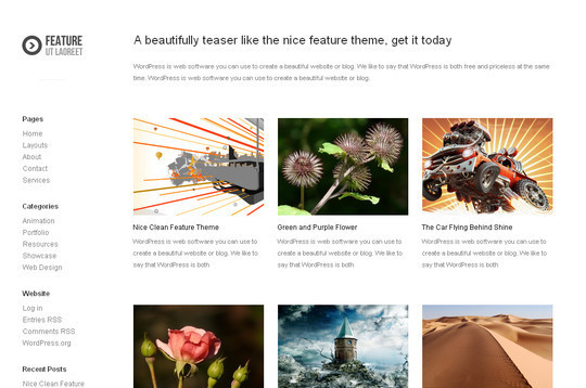 Best Of 2011: A Beautiful Collection Of 50 Free WordPress Themes 24
