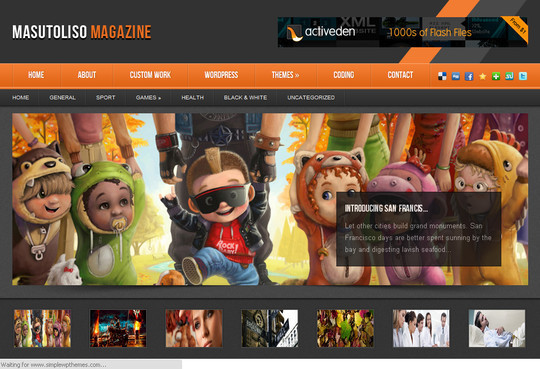 Best Of 2011: A Beautiful Collection Of 50 Free WordPress Themes 44