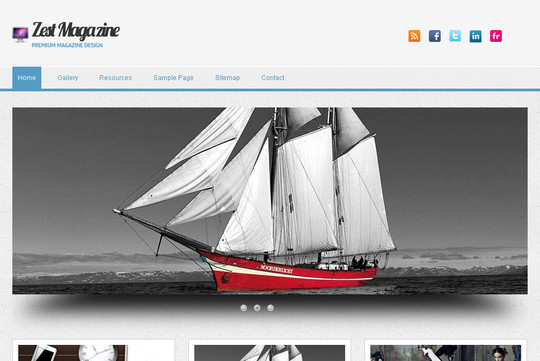 Best Of 2011: A Beautiful Collection Of 50 Free WordPress Themes 45