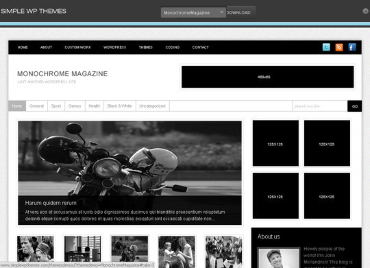 Best Of 2011: A Beautiful Collection Of 50 Free WordPress Themes 46