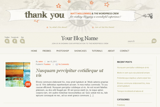 Best Of 2011: A Beautiful Collection Of 50 Free WordPress Themes 14