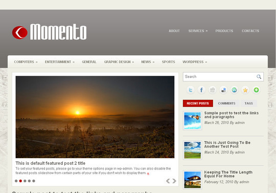 Best Of 2011: A Beautiful Collection Of 50 Free WordPress Themes 47