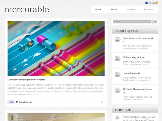 Best Of 2011: A Beautiful Collection Of 50 Free WordPress Themes 6