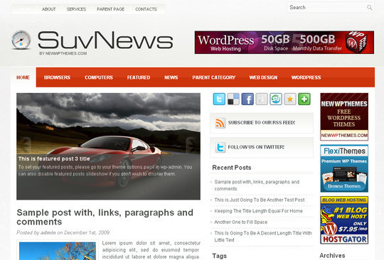 Best Of 2011: A Beautiful Collection Of 50 Free WordPress Themes 49