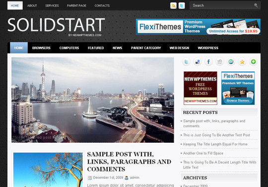 Best Of 2011: A Beautiful Collection Of 50 Free WordPress Themes 50