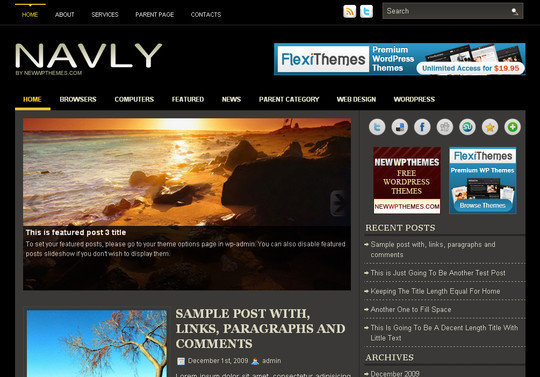 Best Of 2011: A Beautiful Collection Of 50 Free WordPress Themes 30
