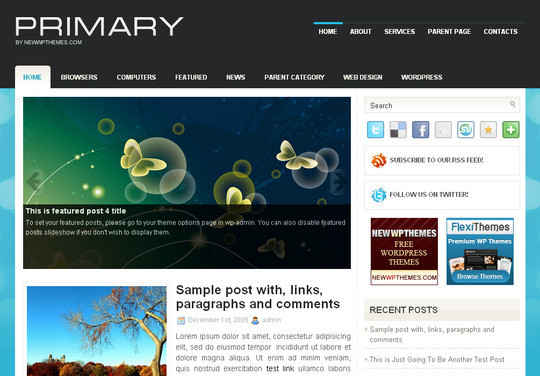 Best Of 2011: A Beautiful Collection Of 50 Free WordPress Themes 23