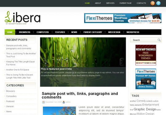 Best Of 2011: A Beautiful Collection Of 50 Free WordPress Themes 37