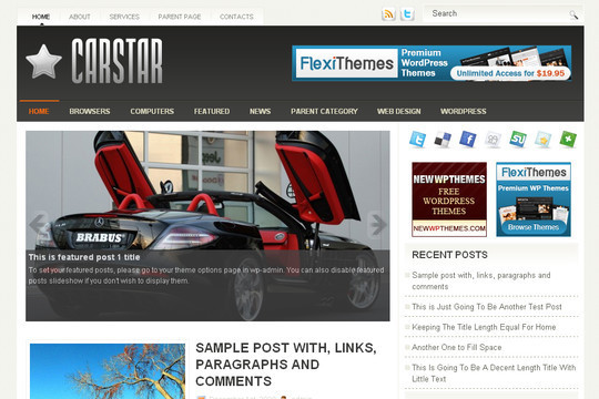 Best Of 2011: A Beautiful Collection Of 50 Free WordPress Themes 1