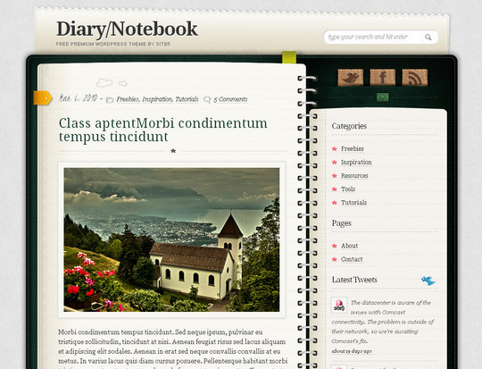 Best Of 2011: A Beautiful Collection Of 50 Free WordPress Themes 19