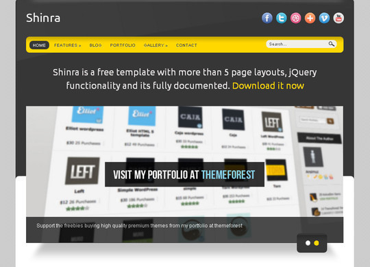 50 Beautiful Yet Free HTML5 And CSS3 Templates 18