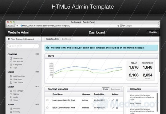 50 Beautiful Yet Free HTML5 And CSS3 Templates 24