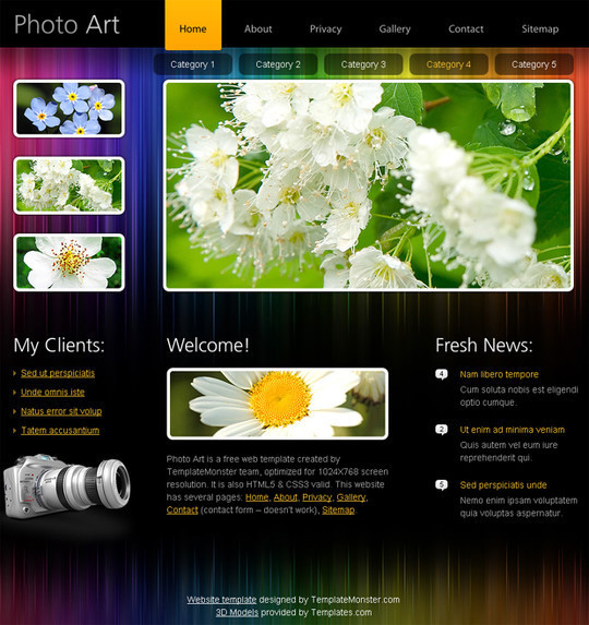 50 Beautiful Yet Free HTML5 And CSS3 Templates 8