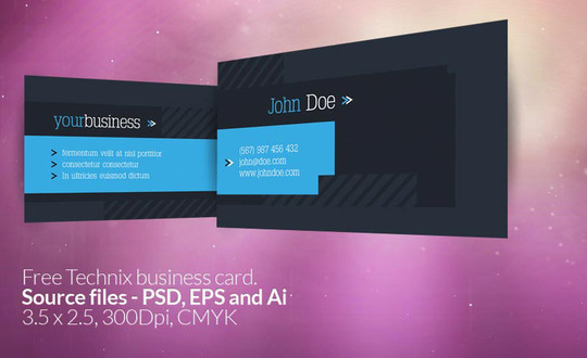 50 Free Photoshop Business Card Templates 2