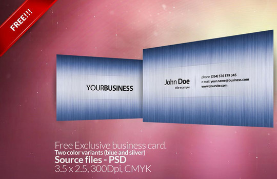 50 Free Photoshop Business Card Templates 13