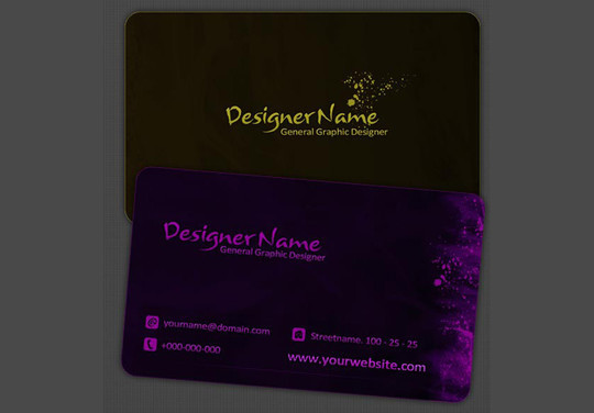 50 Free Photoshop Business Card Templates 21