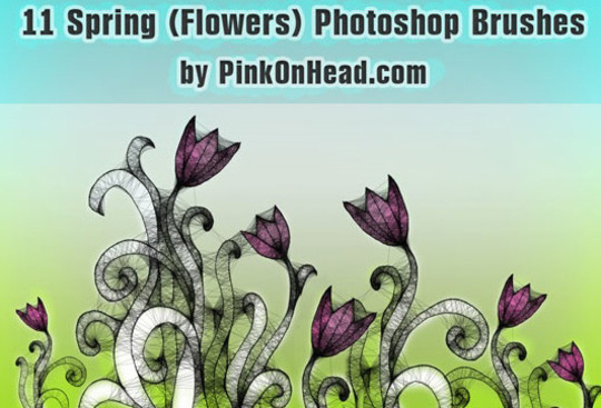 16 Free High Quality Floral Photoshop Brush Sets 13