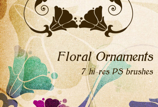 16 Free High Quality Floral Photoshop Brush Sets 15