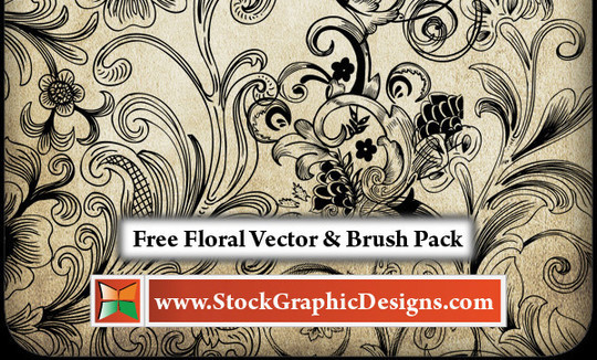 16 Free High Quality Floral Photoshop Brush Sets 10