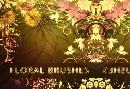 16 Free High Quality Floral Photoshop Brush Sets 3