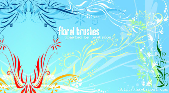 16 Free High Quality Floral Photoshop Brush Sets 5