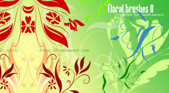 16 Free High Quality Floral Photoshop Brush Sets 6