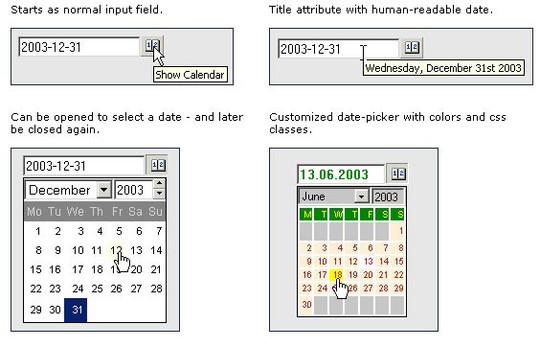 15 jQuery Calendar Date Picker Plugins 7