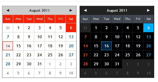 15 jQuery Calendar Date Picker Plugins 6