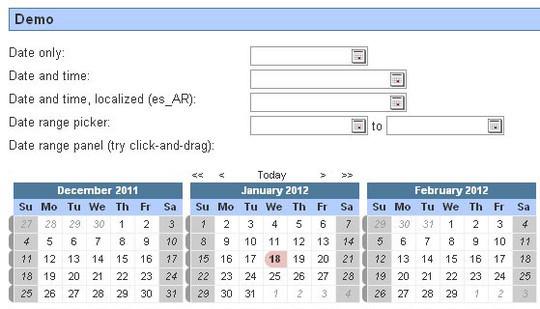 15 jQuery Calendar Date Picker Plugins 10