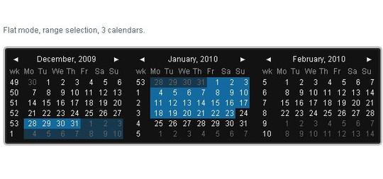 15 jQuery Calendar Date Picker Plugins 12