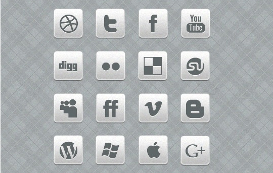 Vibrant Collection Of Fresh And Free Social Media Icon Sets 3