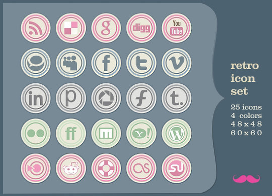 Vibrant Collection Of Fresh And Free Social Media Icon Sets 24