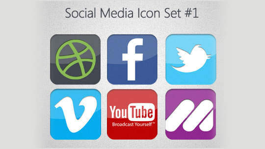 Vibrant Collection Of Fresh And Free Social Media Icon Sets 28